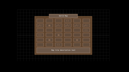 Old map screen, in interface editor